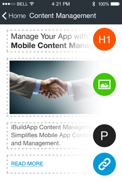 Content Management App Features