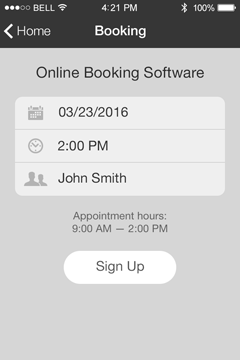 Online Booking Software App Features