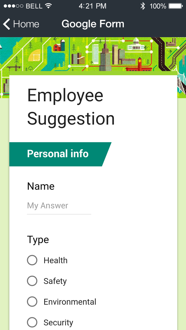 Google Forms App Features
