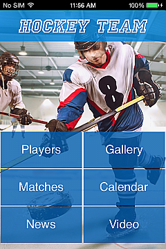 Hockey Team App Templates
