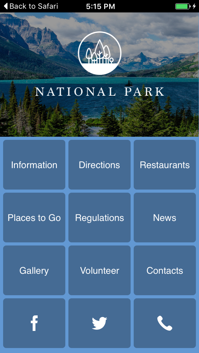National Park Apps